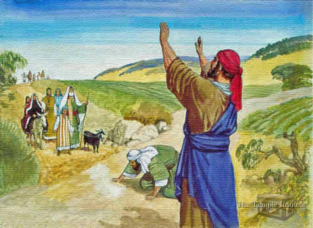 Greeting fellow pilgrims