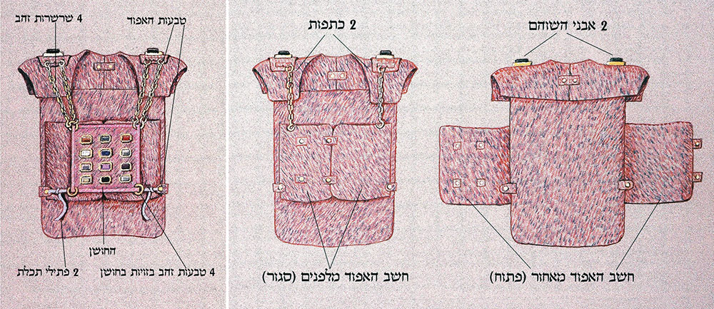 Front and Back Views of the Ephod