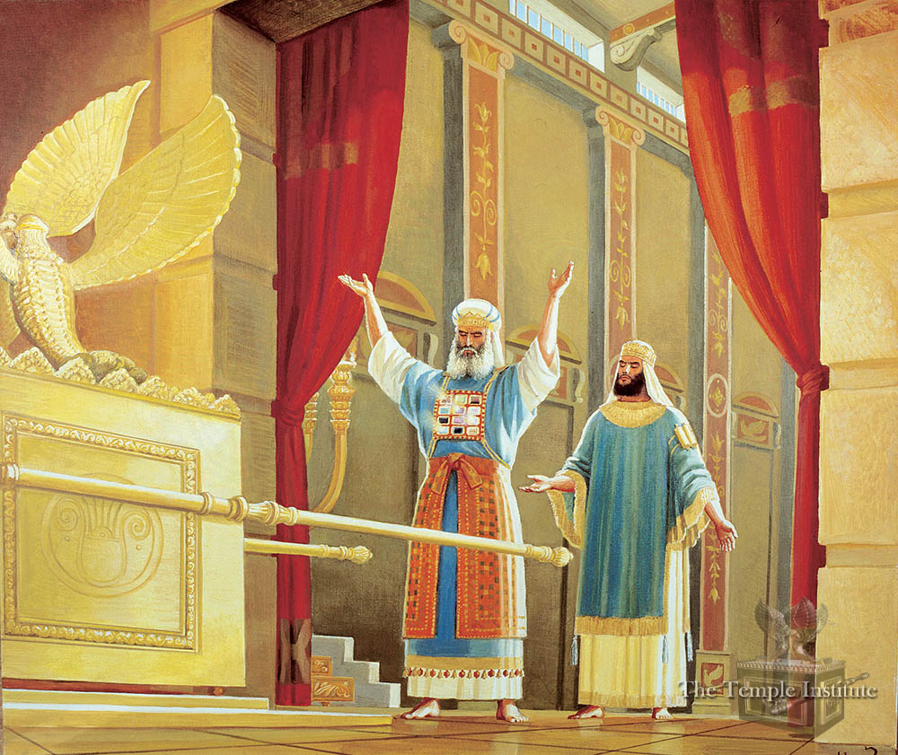 High Priest and king of Israel consulting Urim veTumim